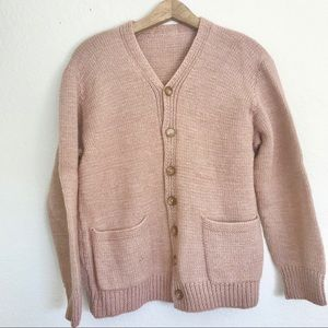 Pink Chunky Oversized Vintage Sweater